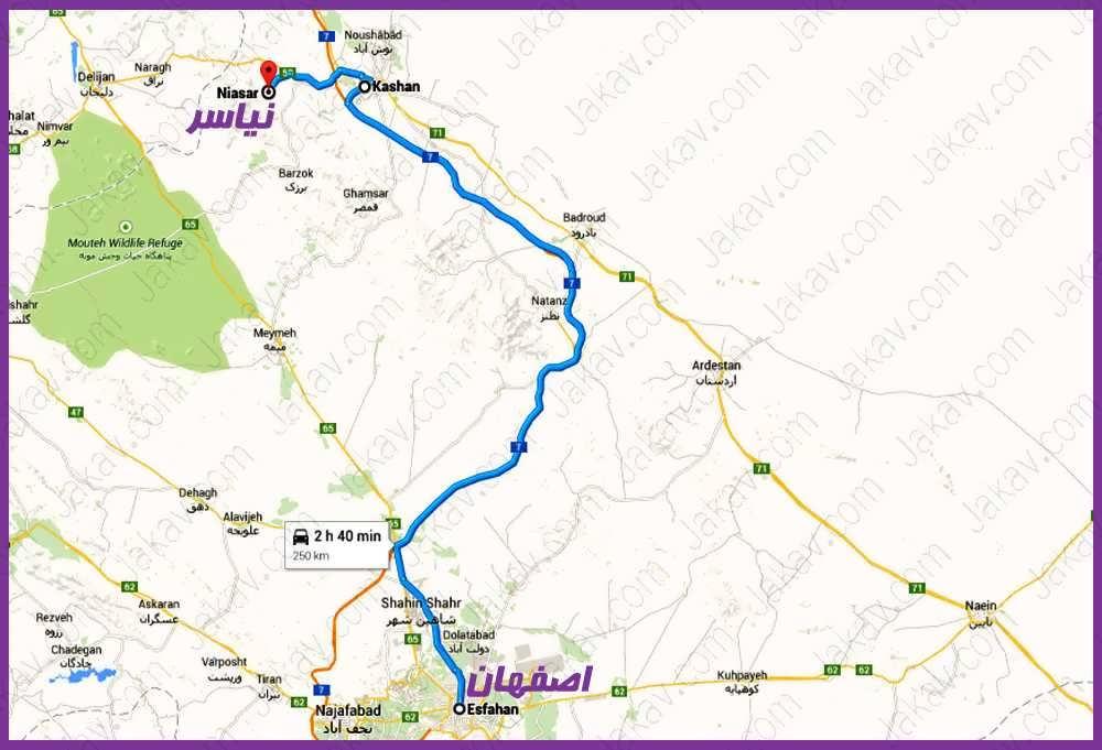 اصفهان به نياسر