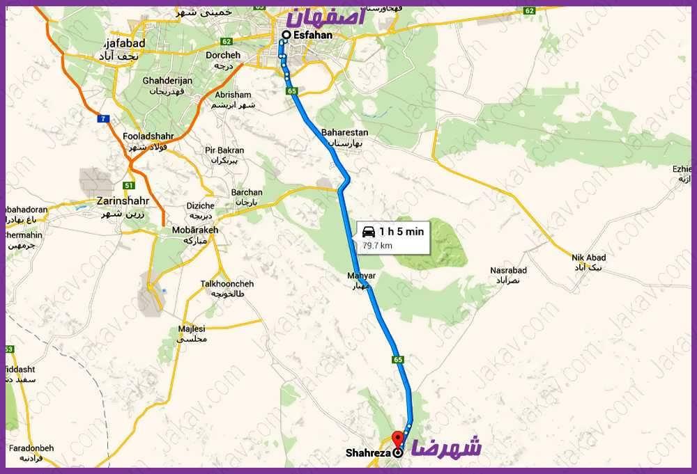 اصفهان به شهرضا