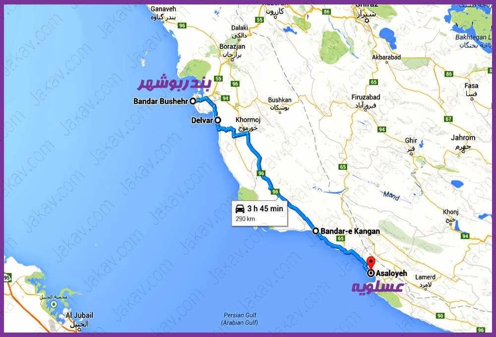 بوشهر به عسلویه