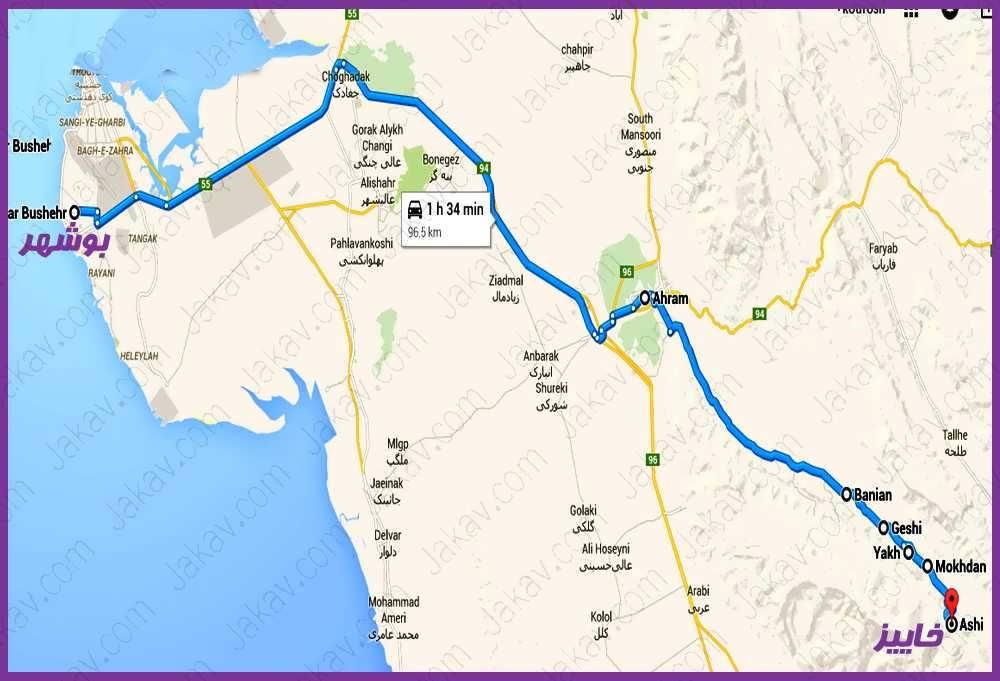 بوشهر به خائیز