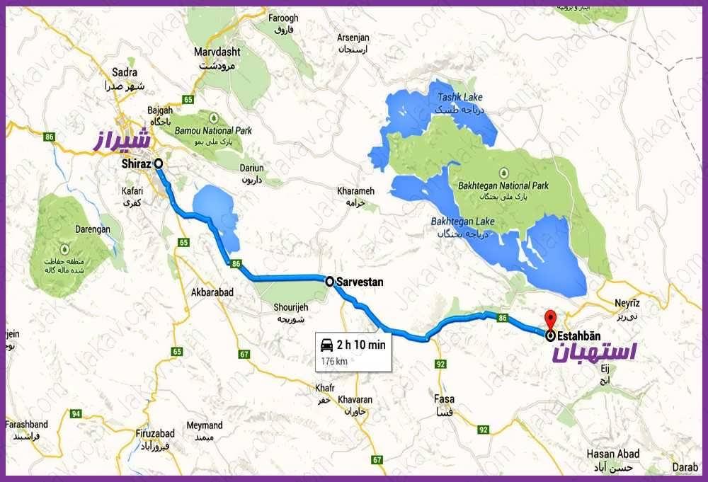شیراز به استهبان
