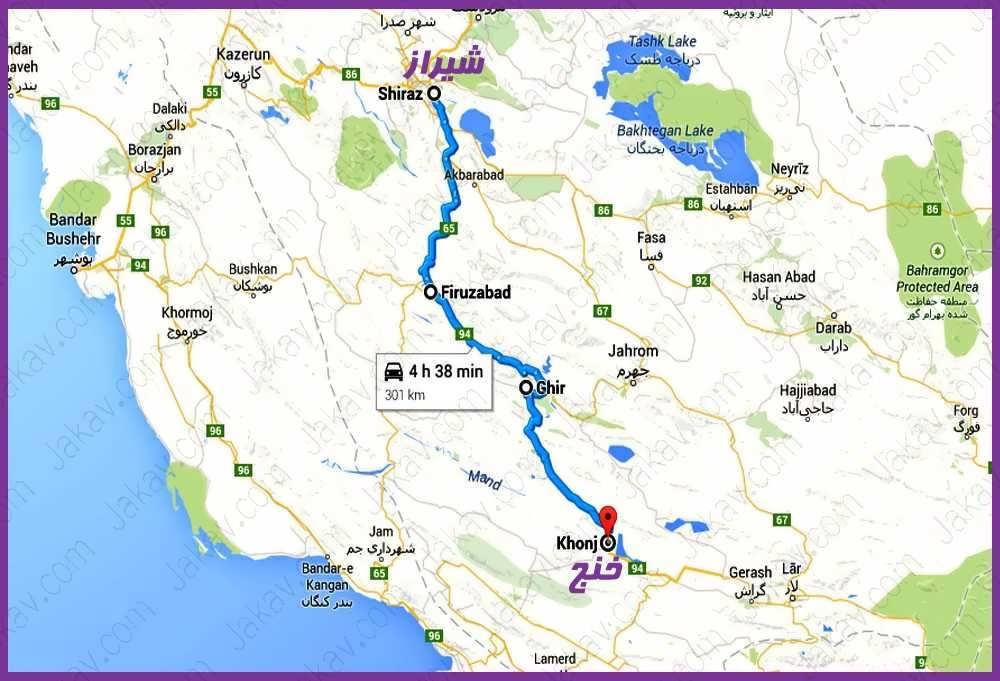 شیراز به خنج