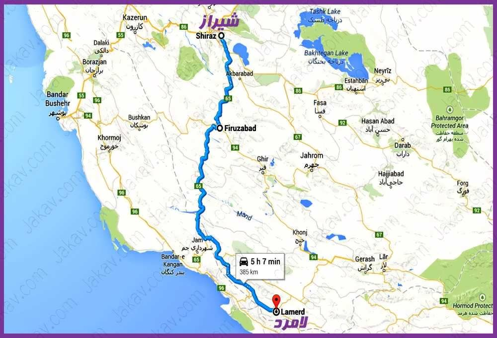 شیراز به لامرد